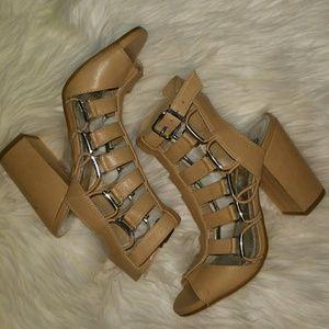 Nude Gianni Bini Block Heels